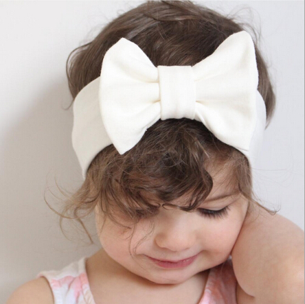 Baby Bowknot Headband Knitted Cotton Children Girls Elastic Hair Bands Turban For Girl Headbands Summer Bandeau Bebe