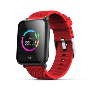 Image 2 - Montre intelligente Q9 pression artérielle fréquence cardiaque moniteur de sommeil Bracelet IP67 étanche Sport Fitness Trakcer montre hommes femmes Smartwatch