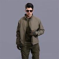 Men's Autumn Military Camouflage Fleece Jacket Army Tactical Commander Jacket Multicam Male Windbreakers