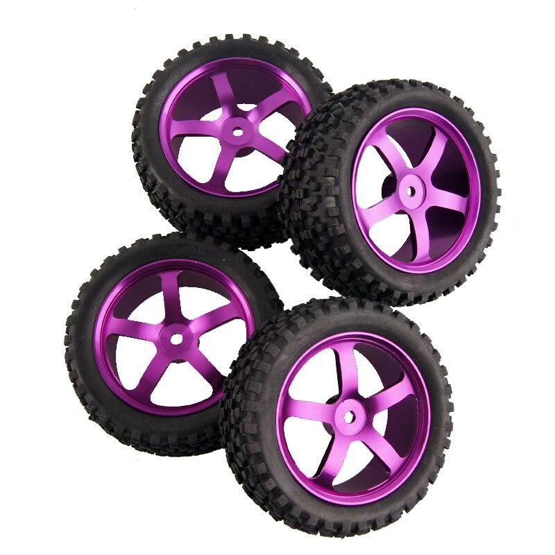 4 pièces/ensemble 1:10 véhicules tout-terrain jantes en alliage d'aluminium pneus tout-terrain adaptés aux pneus universels HPI HSP 94107/94166/94106 etc.