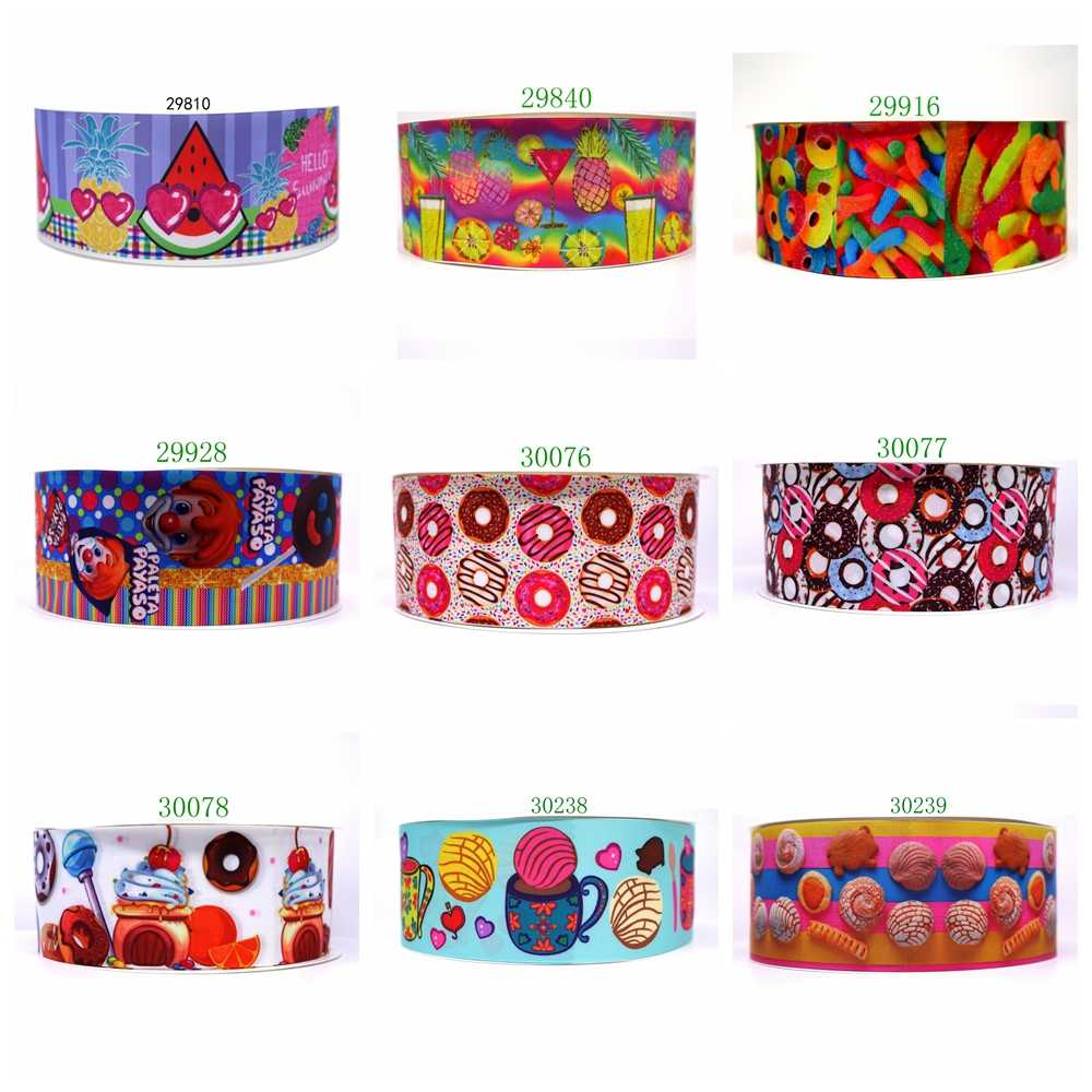 Free shipping 2019 new arrival ribbons Hair Accessories ribbon 10 yards  printed grosgrain ribbons 30077