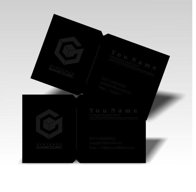 Hot Exquisite Design Die Cut Cartes De Visite Personnalis Logo Impression Noir Couleur Carte