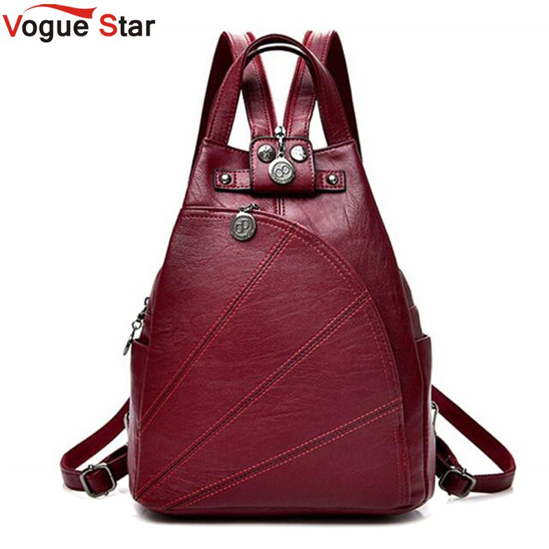 Fashion Leisure Women Backpacks Women's PU Leather Backpacks Female school Shoulder bags for teenage Travel Back pack LB471 fashion leisure women backpacks women s genuine leather backpacks female school shoulder bags for teenage girls travel back pack