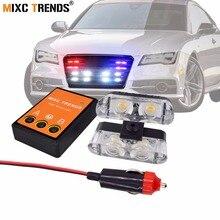 цена на High Power Police Light for Car Red Blue White 12V Amber LED Strobe Lights Fire EMS Ambulance Flasher Emergency Warning Light