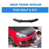 Carbon Fiber / FRP Racing Front Lip Spoiler Bumper Chin Splitters for Volkswagen VW Golf 6 VI MK6 GTI Only 2010 2013