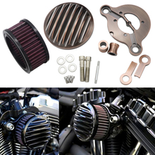 Мотоцикл воздухоочиститель Впускной фильтр системы алюминиевый для Harley-Davidson Sportster 883 1200 1991- Железный 883 2009