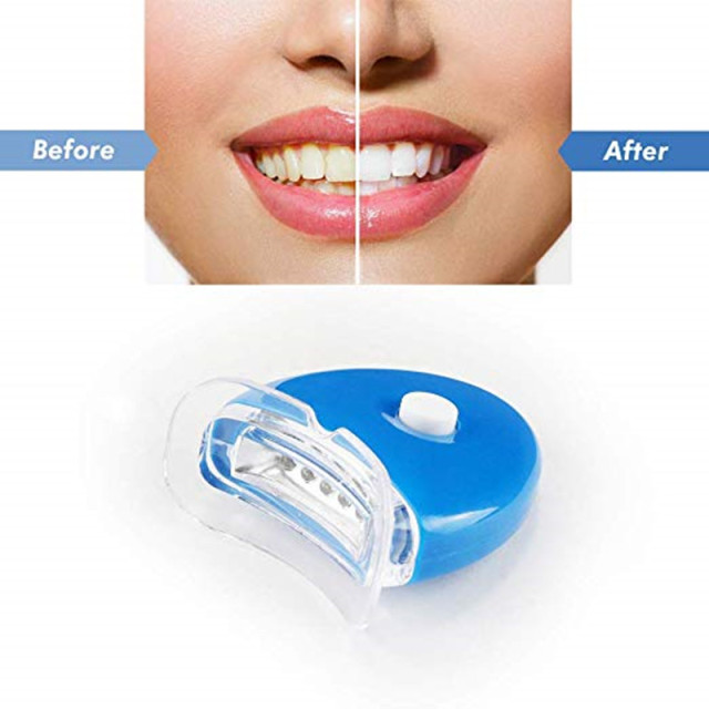 Cool Teeth Whitening Accelerator Blue LED Lights To Whiten Faster Mouth Dental Tooth Whitener Lights Gel or Bleach NOT Include