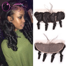 Unprocessed Cheap Lace Frontal Closure Loose Wave 7A Brazilian Loose Wave Frontal Closure 13*4 Ear To Ear Lace Frontal Closure