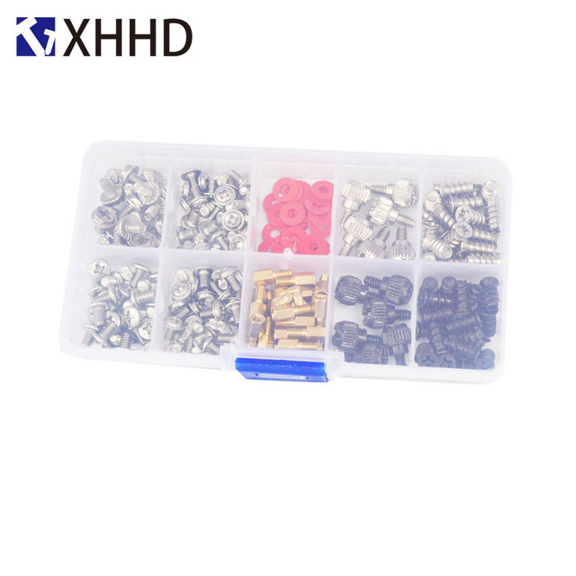 Hard Disk DIY Motherboard PC Personal Computer Assemble Case Fan Hand Screw Bolt Standoff Washer Set Assortment Kit Box 227pcs 2