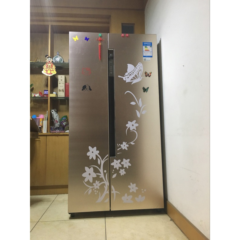 Home & Garden ... Home Decor ... 32763304117 ... 4 ... High Quality Creative Refrigerator Black Sticker Butterfly Pattern Wall Stickers Home Decoration Kitchen Wall Art Mural Decor ...