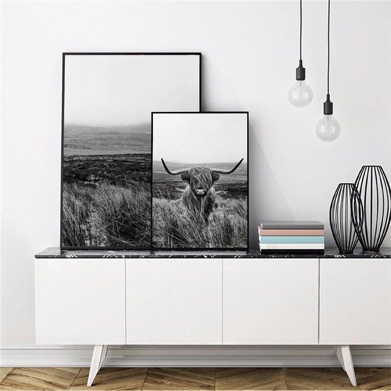 Highland Cow Canvas Art Prints Home Decor ation