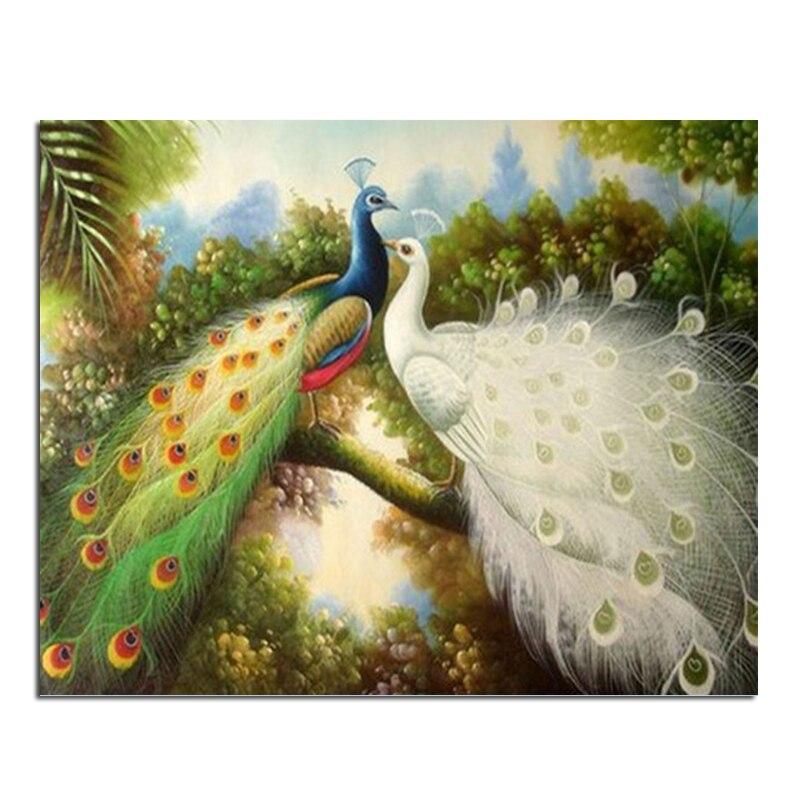 Peacock love 25x20 Cash Pattern Diamond Embroidery DIY Needlework Diamond Painting Cross Stitch Full Drill Rhinestones Painting