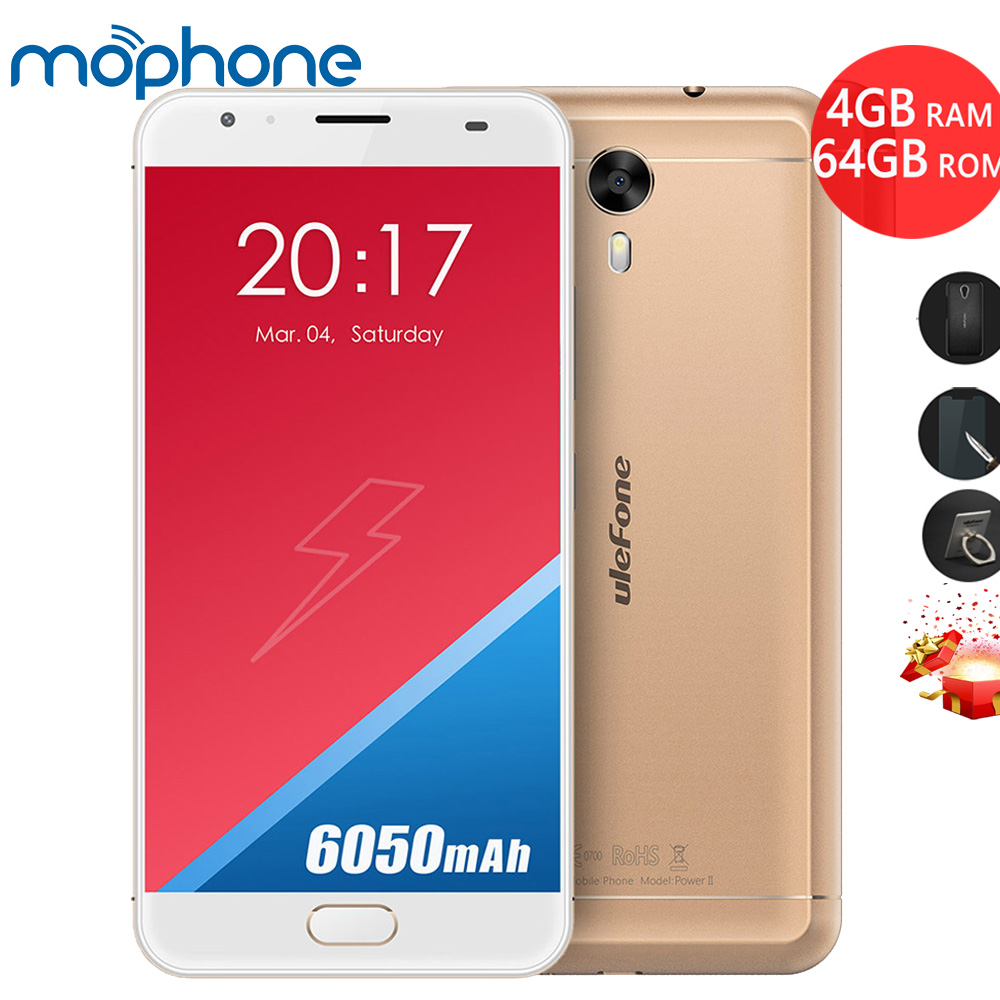 bilder für UleFone Power 2 Smartphone 4G 5,5 zoll MTK6750T Octa-core Android 7.0 4 GB + 64 GB Dual Kameras 6050 mAh Quick Charge Handy