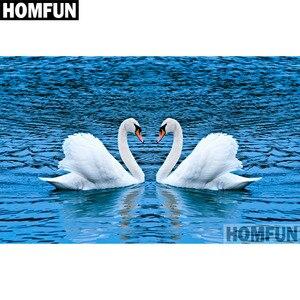 HOMFUN Completo Quadrado/Rodada Broca 5D DIY Pintura Diamante