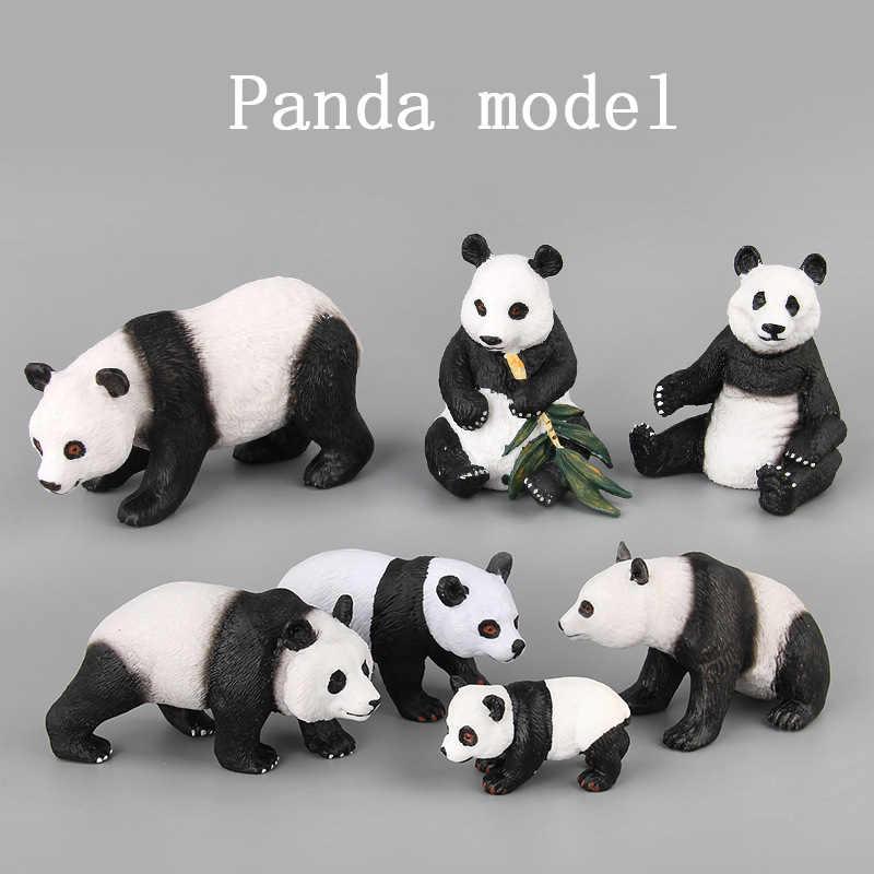 7 estilos & Ação Brinquedos Figura Animal Dos Animais Selvagens Do Bebê Panda Bonito PVC Modelo Boneca Colecionável Coleção Para Kid Presente Das Crianças
