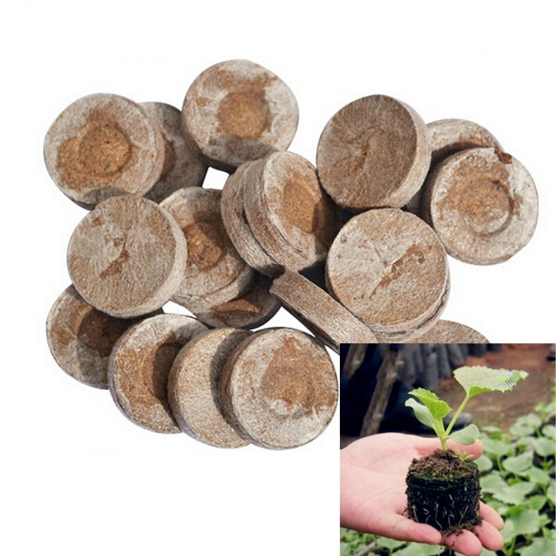 30mm Jiffy Peat Pellets Seed Starting Plugs Seeds Starter Pallet Seedling Soil Block Professional 5pcs-pack Easy To Use