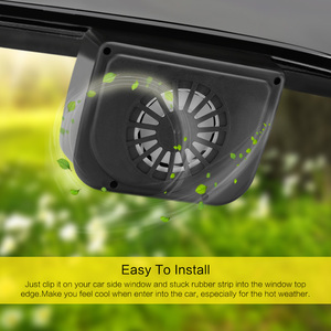 Onever Solar Sun Power Mini Air Conditioner For Car Car Window Auto Air Vent Cool Fan Portable Car Air Conditioner Ventilation(China)