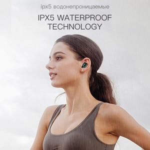 Image 3 - Auriculares inalámbricos con Bluetooth Esvne Q32 TWS 5,0 auriculares sin manos auriculares con sonido envolvente 3D deportes en la oreja auriculares inalámbricos impermeables