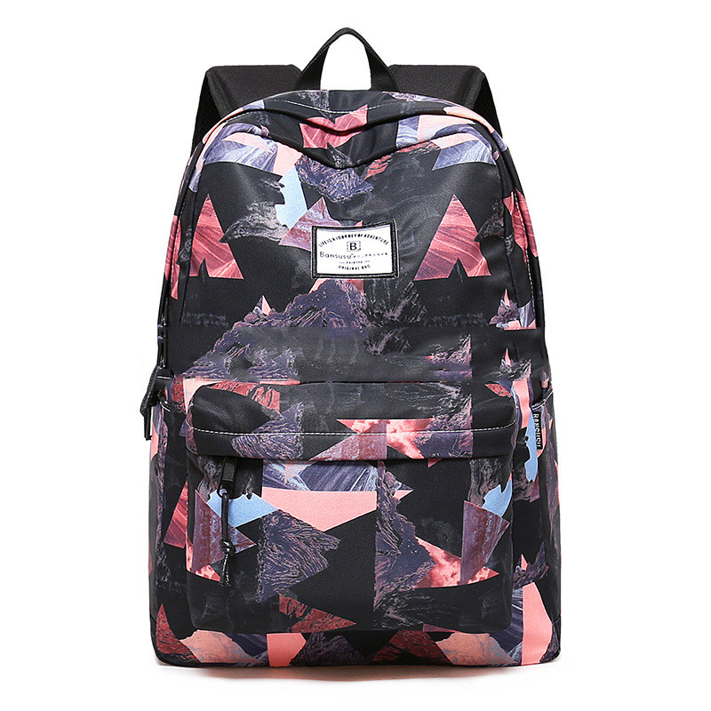 Women Backpacks For Teenage Girls Geometric Printed School Bags Travel Leisure Laptop Backpack Female Nylon Backpacks