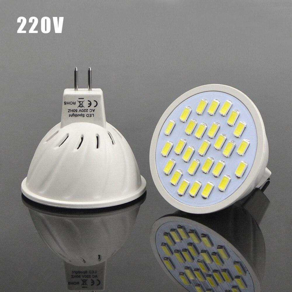 TXG 1Pcs Energy Saving 7W MR16 AC 220V LED lamp Heat Resistant Body 5730SMD 27LEDs Spotlight Bulb For Indoor lighting miolla txg 871