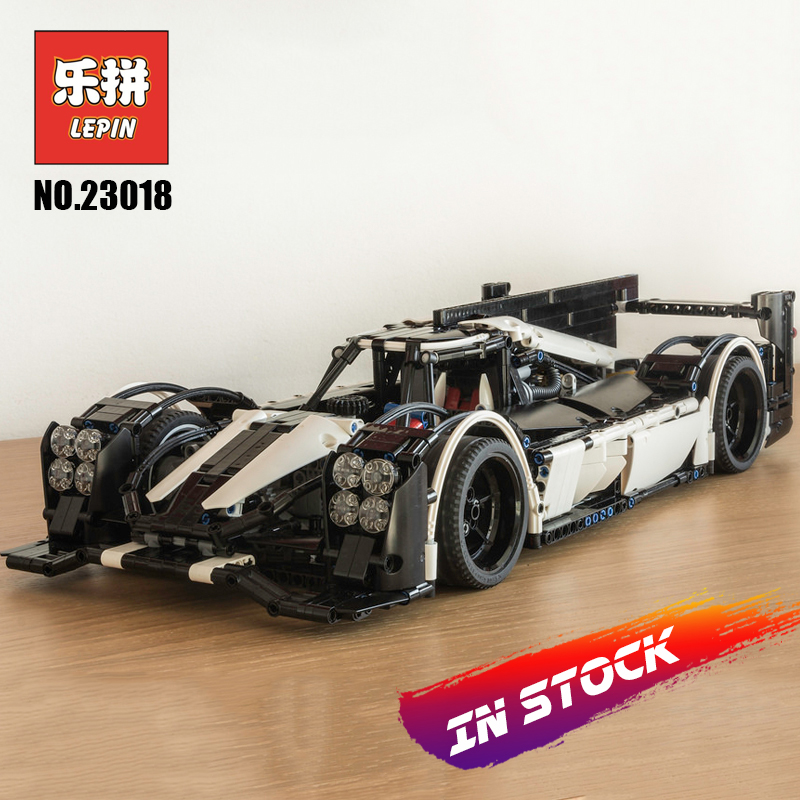 Lepin Technic 23018 Speed Champions the MOC-5530 Hybrid Super Racing Car Set Model Building Blocks Bricks Toys for Children Gift lepin 21004 technic the red sports car f40 compatible 10248 model building blocks kids toys gifts lepin city speed champions