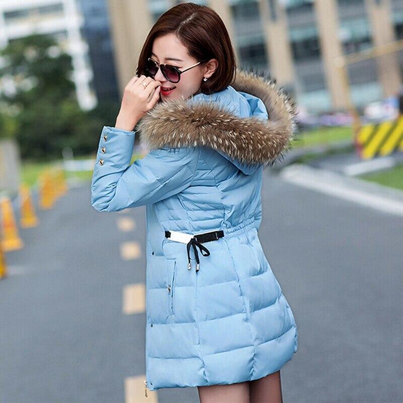Yeni 2015 moda kış ceket ceket sıcak Uzun kadın parka kürk yaka kapüşonlu Kış ceket kadınlar ince ceket