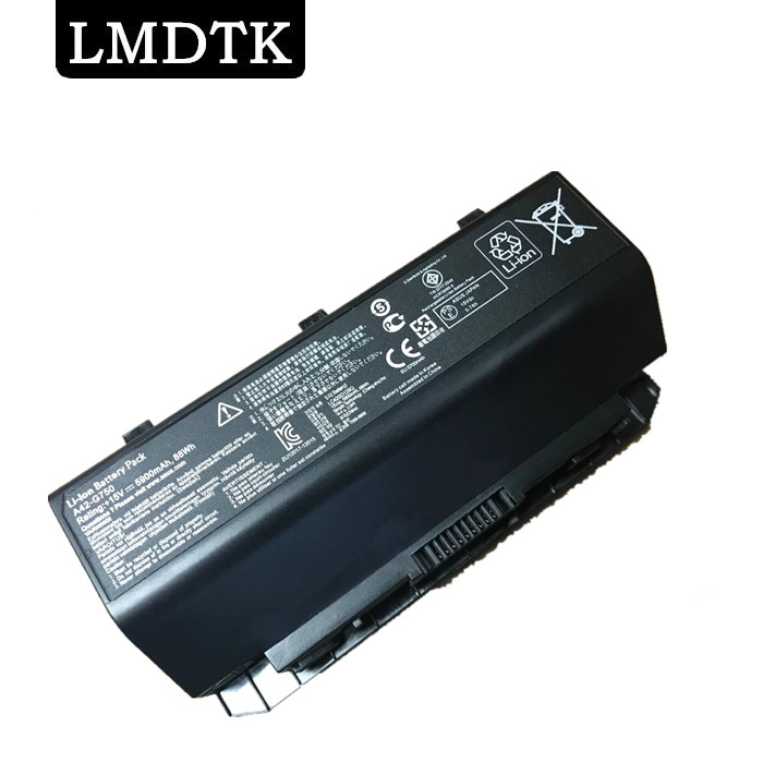 LMDTK New laptop battery FOR ASUS ROG G750 Series G750J G750JH G750JM G750JS G750JW G750JX G750JZ CFX70 CFX70J A42-G750 игровой ноутбук asus g750