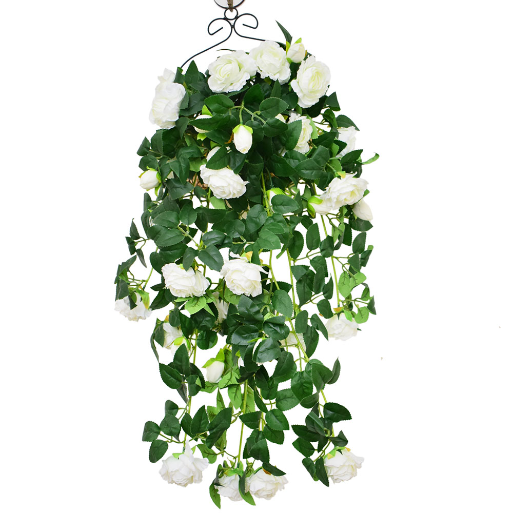 Hanging Wall Artificial Flowers Vines Silk Roses Peony Rattan For