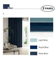 MOMO Room Darkening Curtains Solid Fabric Matte Velvet Back Tab Rod Pocket Window Drapes For Bedroom With Custom Size (2 Panels)