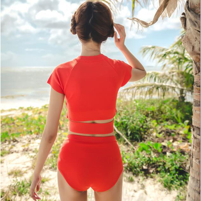 Swiming Suit Women Woman Bathing Suits 2018 Split Swimwear Swimsuit With Pushap Swimming Tankini For Summer Bikini Robe New Sexy