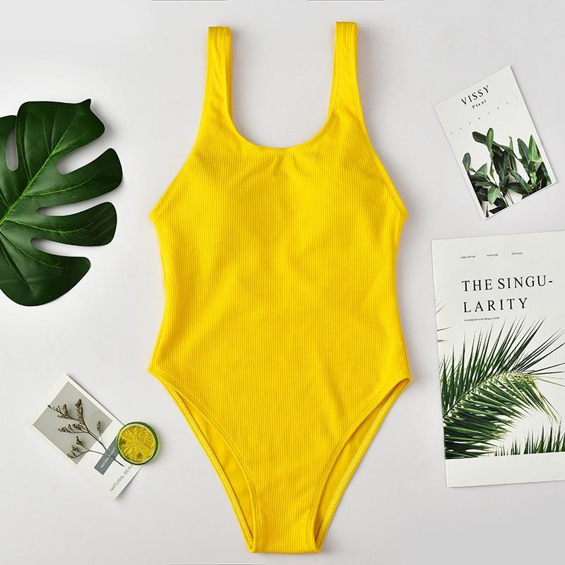 Print Swimwear 2019 New Women Sexy Swimsuit Backless One Piece Swimsuit Bandage Beachwear Solid Bathing Suit Swim Monokini in Body Suits from Sports Entertainment