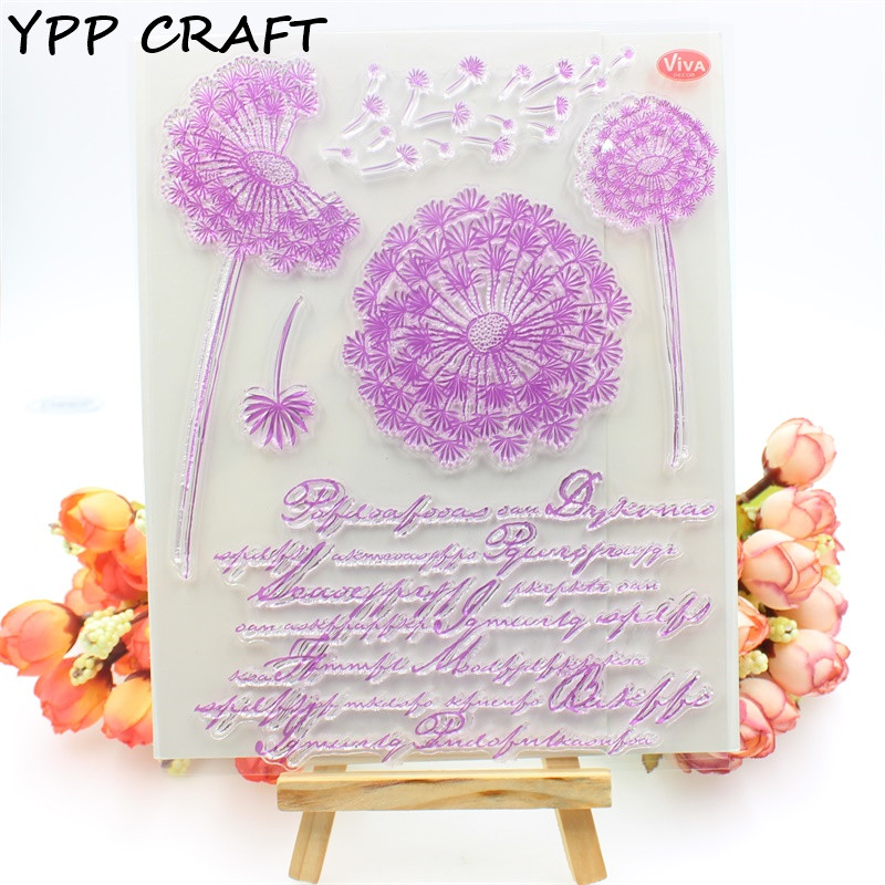 YPP CRAFT Dandelion Transparent Clear Silicone Stamps for DIY Scrapbooking/Card Making/Kids Crafts Fun Decoration Supplies kscraft butterfly and insects transparent clear silicone stamps for diy scrapbooking card making kids fun decoration supplies