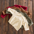 2017 Primavera Otoño Del Bebé Girs niños sólido beige brown Camiseta