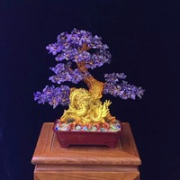 Natural amethyst lucky tree Rich cash cow crystal tree tree Violet arenaceous town house feng shui furnishing