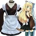 Anime Hentai Ouji to Warawanai Neko Cosplay Costume Azuki Azusa Kawaii Lolita Maid Costume Kimono New Free Shipping+Tail