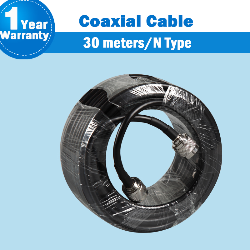 30 Meters High Quality N Male To N Male Connector 50ohm 5D Coaxial Cable For Mobile Phone Signal Booster Repeater Amplifier S30