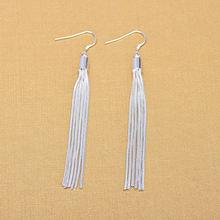 Женские длинные серьги кисточки из серебра 925 пробы