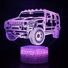 Hot Off-road Vehicle Remote Control 3d Night Lamp 3d Led Colorful 3d Light Fixtures White base Lovely 7 color change 3D Lamp 3d лампа 3d lamp утенок