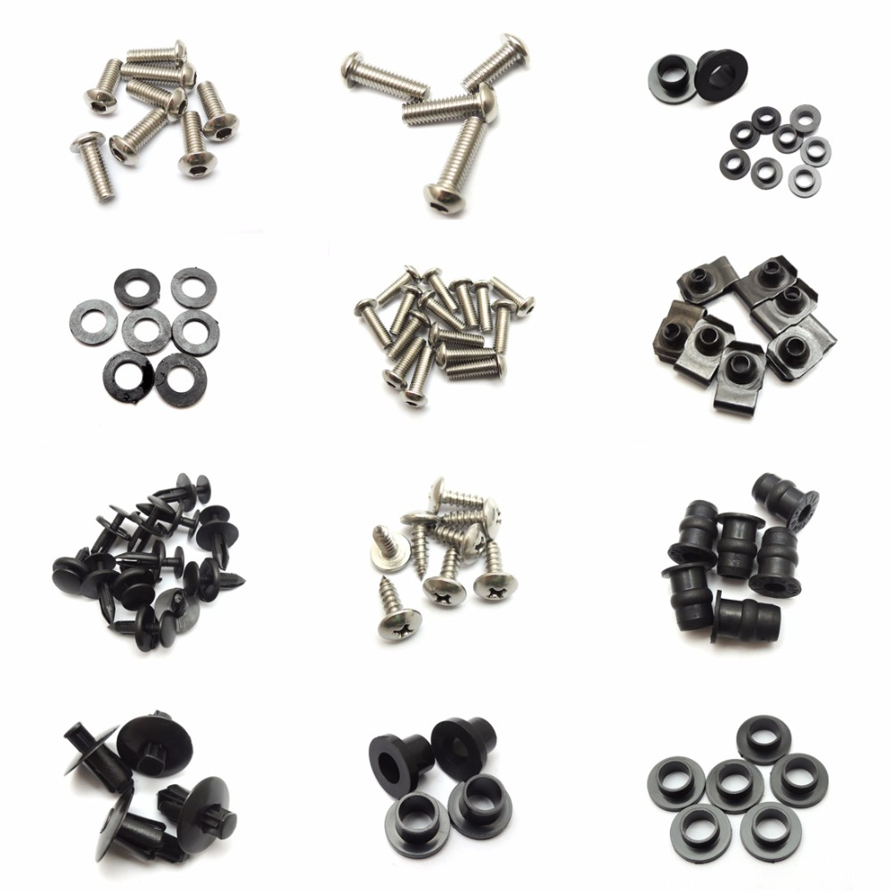 Motorcycle Fairing Bolt Screw Nuts Washers Fastener Fixation for SUZUKI GSX-R1000 GSXR 1000 2005 2006 Full Kit FREE SHIPPING (16)