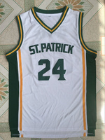 Kyrie Irving 24 St Patrick High School White Basketball Jersey Throwback Sewn Shirt Any Size XXS
