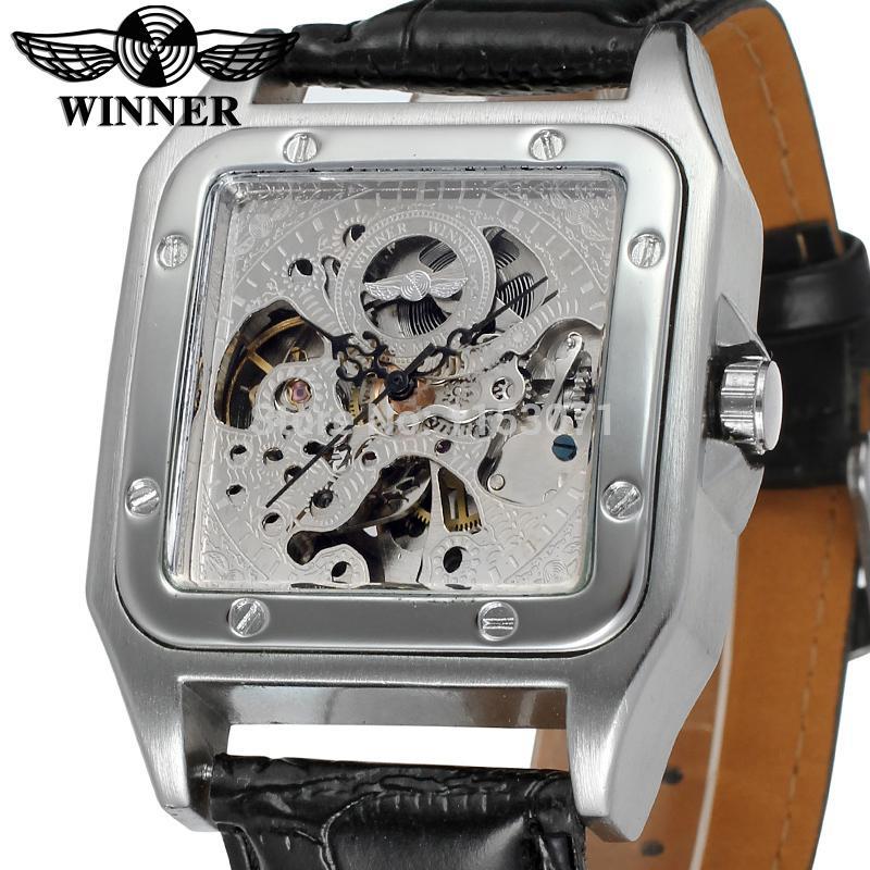 жаркую погоду winner skeleton silver automatic watch тому аромат