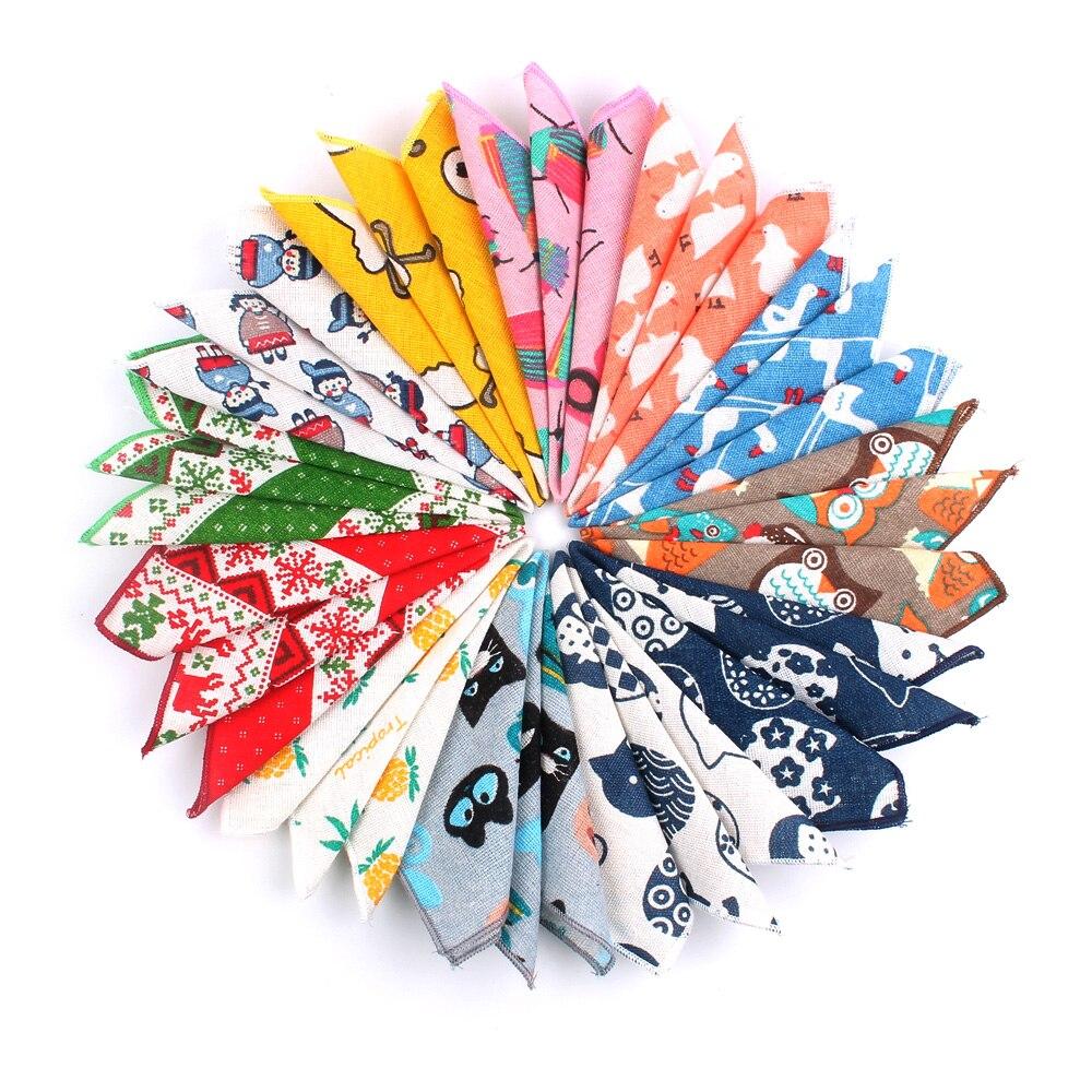 Animal Print Pocket Square For Men Women Cartoon Chest Towel Hanky Gentlemen Hankies Men's Suits Handkerchief Pocket Towel