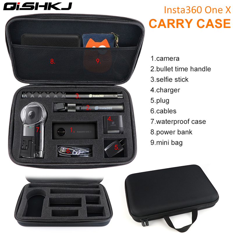 Action Camera Carrying Case/Portable Storage Bag For Insta 360 ONE X Camera  Accessories