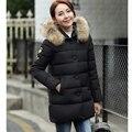 2016 winter Down cotton jacket female medium-long plus size clothing thickening wadded jacket cotton-padded jacket Female