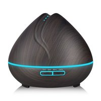 Wood Grain Oil Diffuser Cool Mist Humidifier Ultrasonic Aroma Essential 400ml For Home Office Bedroom Living