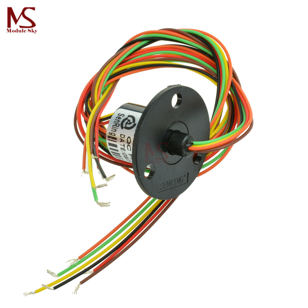 12.5mm 300Rpm 6 Wires CIRCUITSx2A Capsule Slip Ring AC 240V for Monitor Robotic12.5mm 300Rpm 6 Wires CIRCUITSx2A Capsule Slip Ring AC 240V for Monitor Robotic