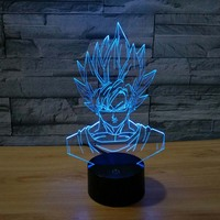 3D SON GOKU Night light Baby 7 Color Changing Bright Night Light Led Lighting table Lamps