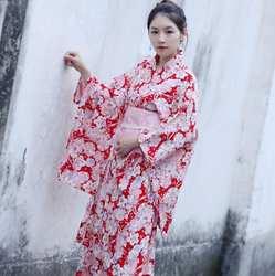 Японское аниме кимоно модный халат костюм женщина платье японское представление кимоно