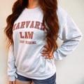 Só Brincando de Direito de Harvard Moletom-Harvard Law-Shirt Camisola Engraçada-Tumblr Camisola-Crewneck Camisola