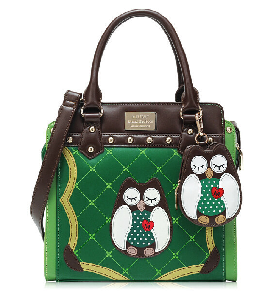 Free Shipping new design Women handbag cartoon girl fashion the owl bag tote or one single shoulder bag
